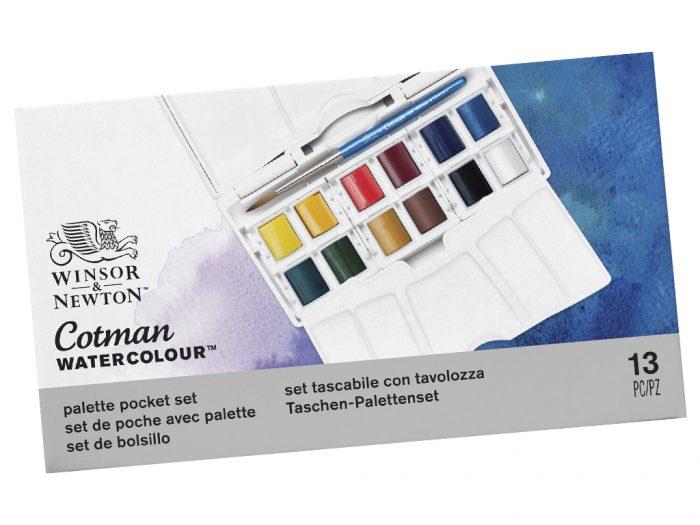Akvareļkrāsu kubiņu 1/2 komplekts Cotman Pocket PLUS