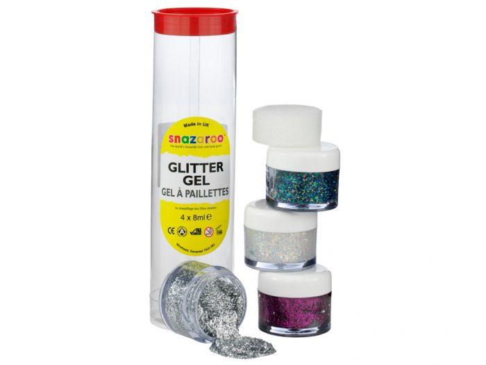 Sejas krāsa Glitter 4x8ml