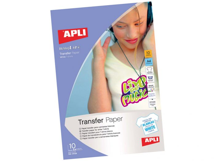 Papīrs bildes transform.A4 04128 TP/10lapas baltam kokv. audumam