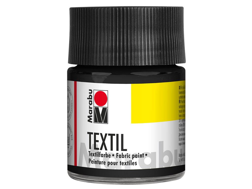 Krāsa tekstilam 50ml 073 black