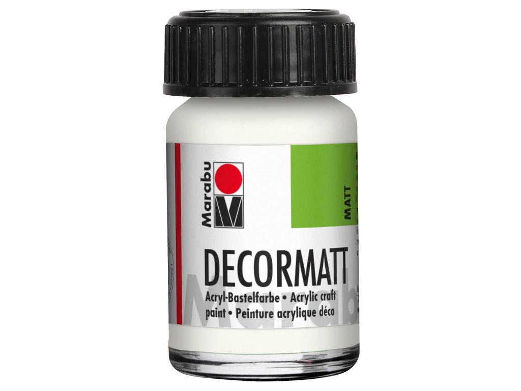 Dekorkrāsa Decormatt 15ml 070 white