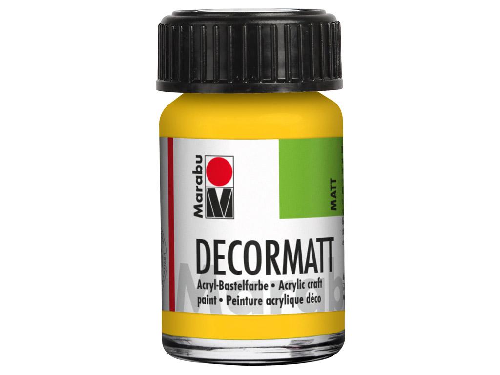 Dekorkrāsa Decormatt 15ml 021 medium yellow
