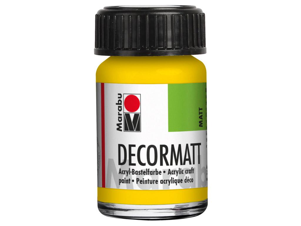 Dekorkrāsa Decormatt 15ml 019 yellow