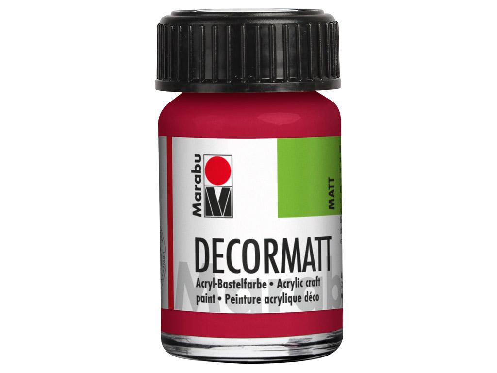 Dekorkrāsa Decormatt 15ml 032 carmine red