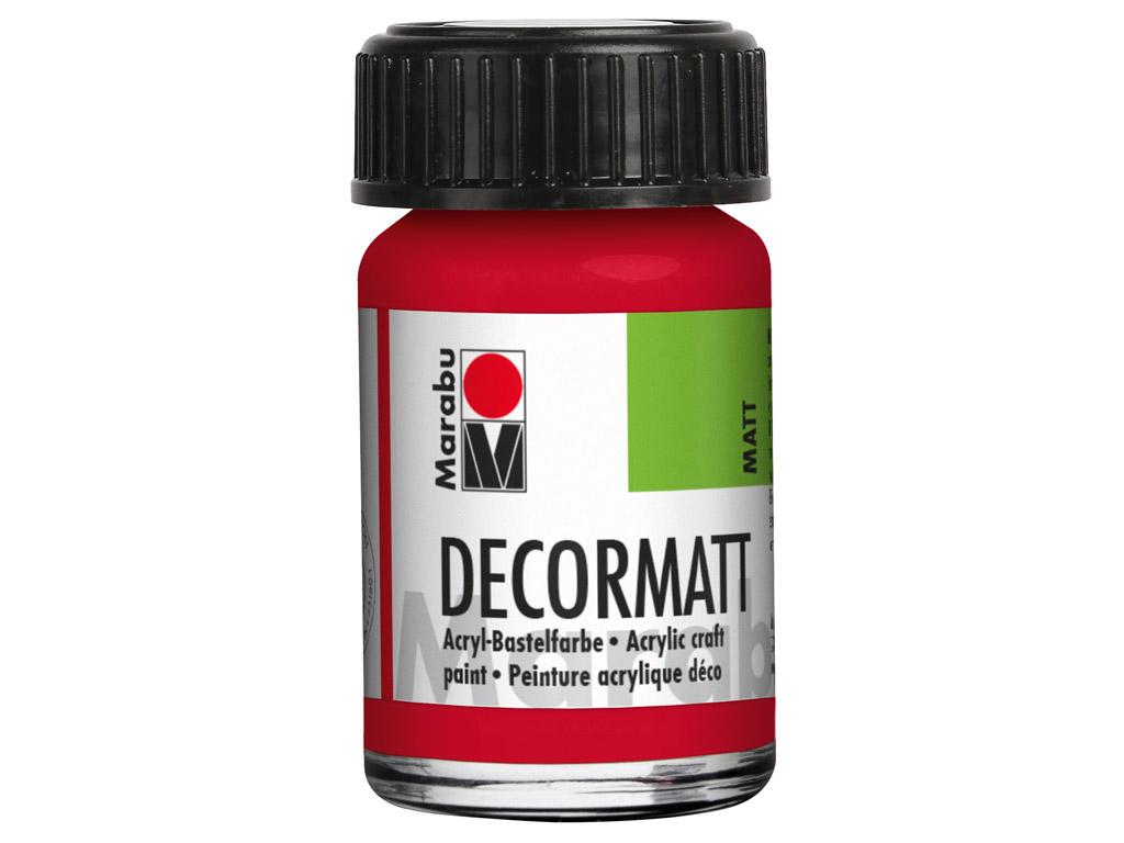Dekorkrāsa Decormatt 15ml 031 cherry red
