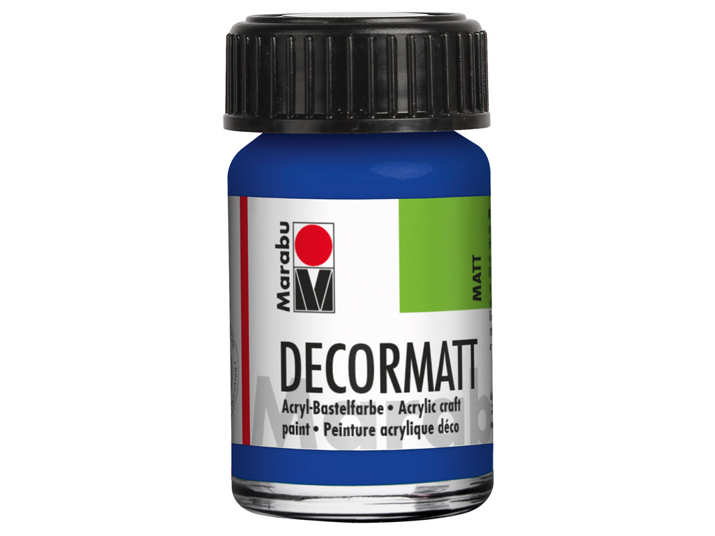 Dekorkrāsa Decormatt 15ml 055 dark ultramarine