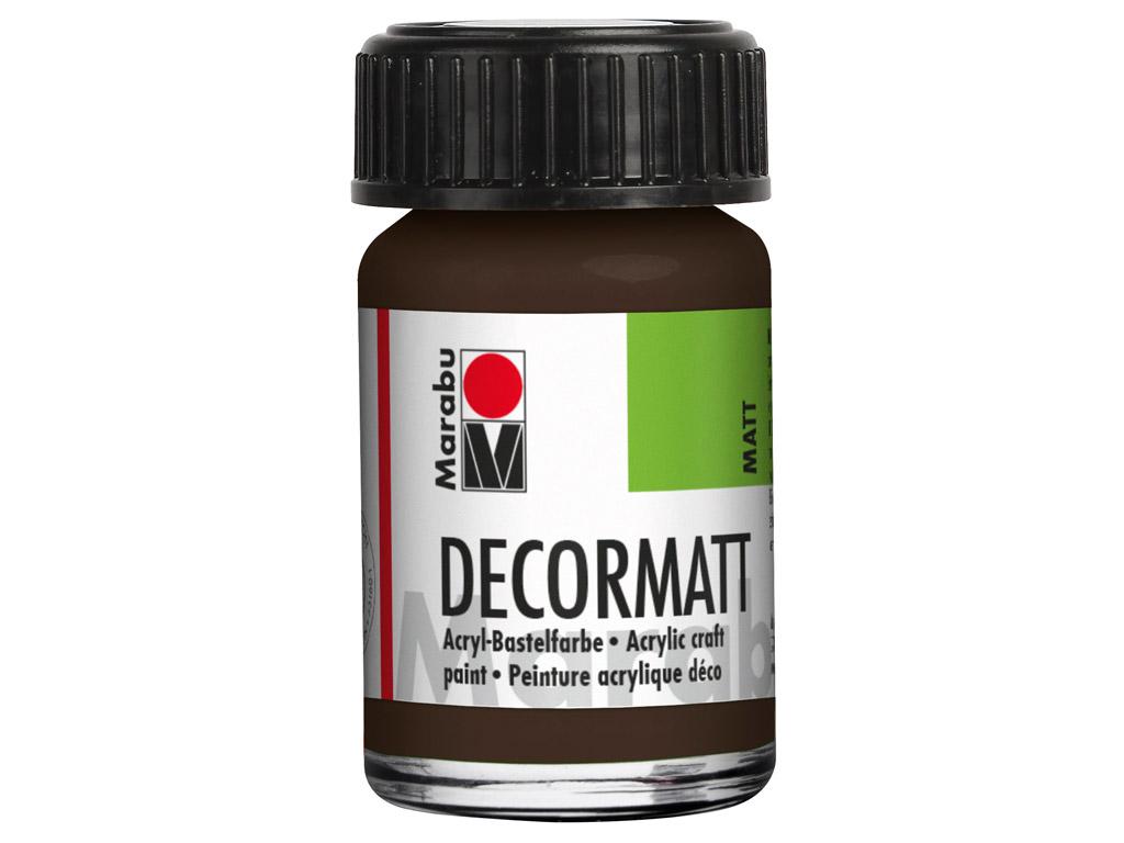 Dekorkrāsa Decormatt 15ml 045 dark brown