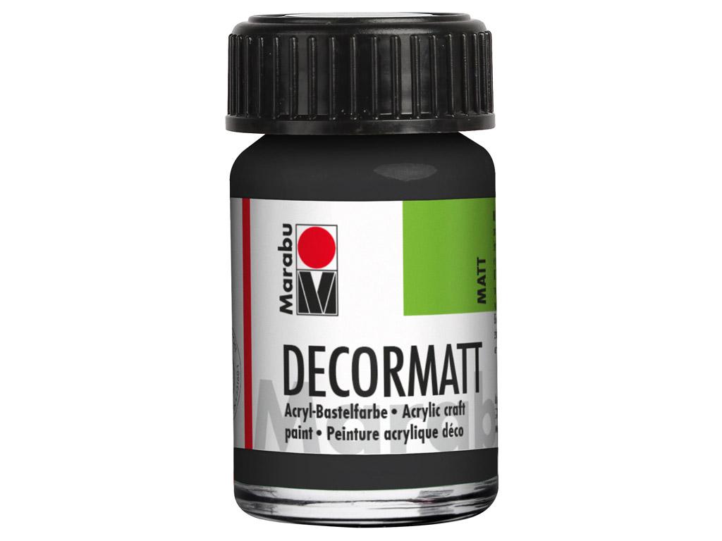 Dekorkrāsa Decormatt 15ml 073 black