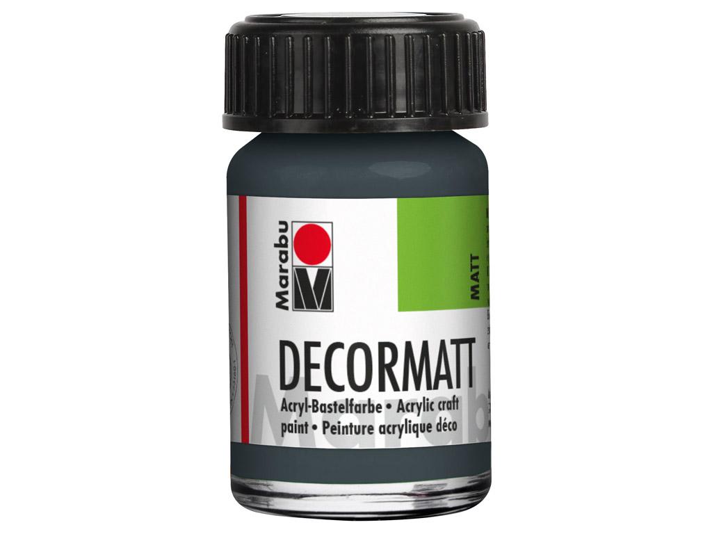 Dekorkrāsa Decormatt 15ml 079 dark grey