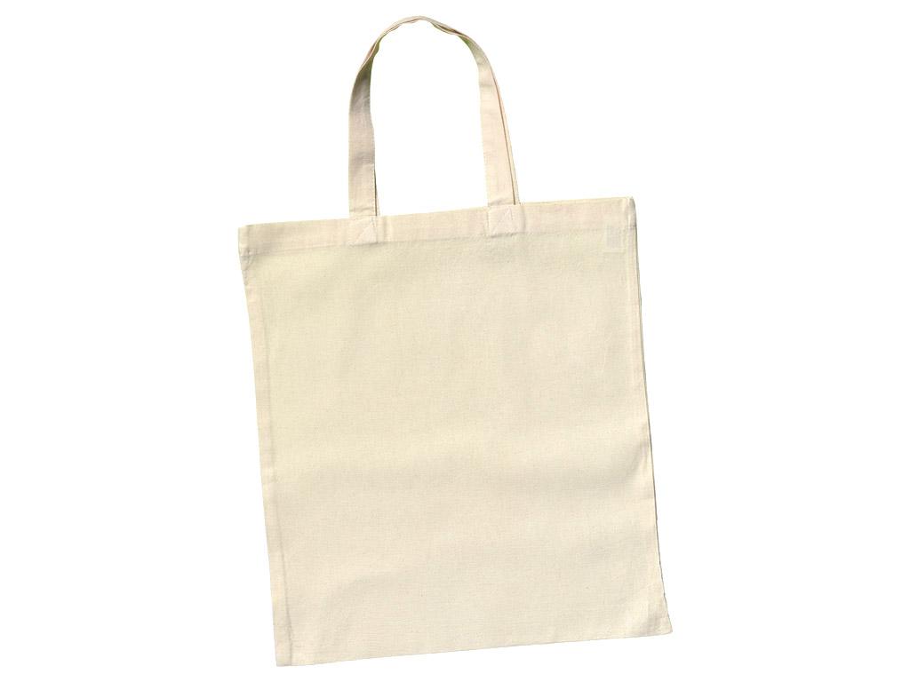 Cotton shopping bag 38x42cm short handles