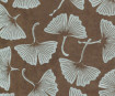 Lokta Paper A4 Big Gingko Leaves Silver on Brown
