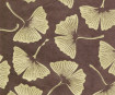 Lokta Paper A4 Big Gingko Leaves Gold on Brown