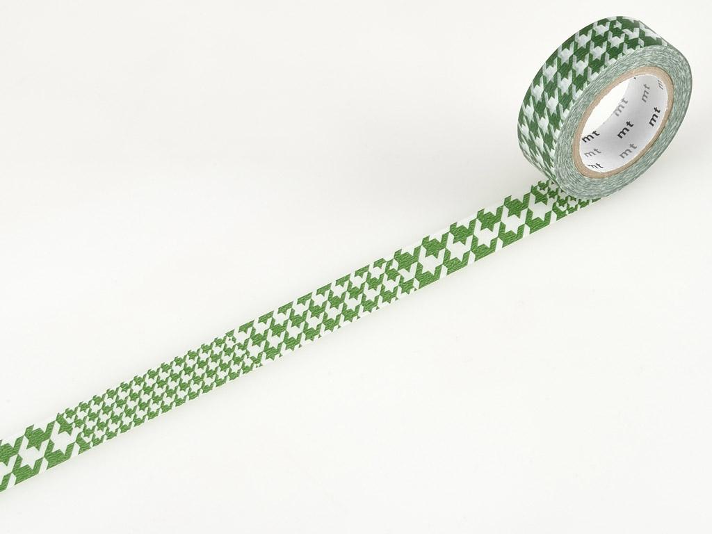 Washi līmlente mt 1P deco 15mmx10m chidori green