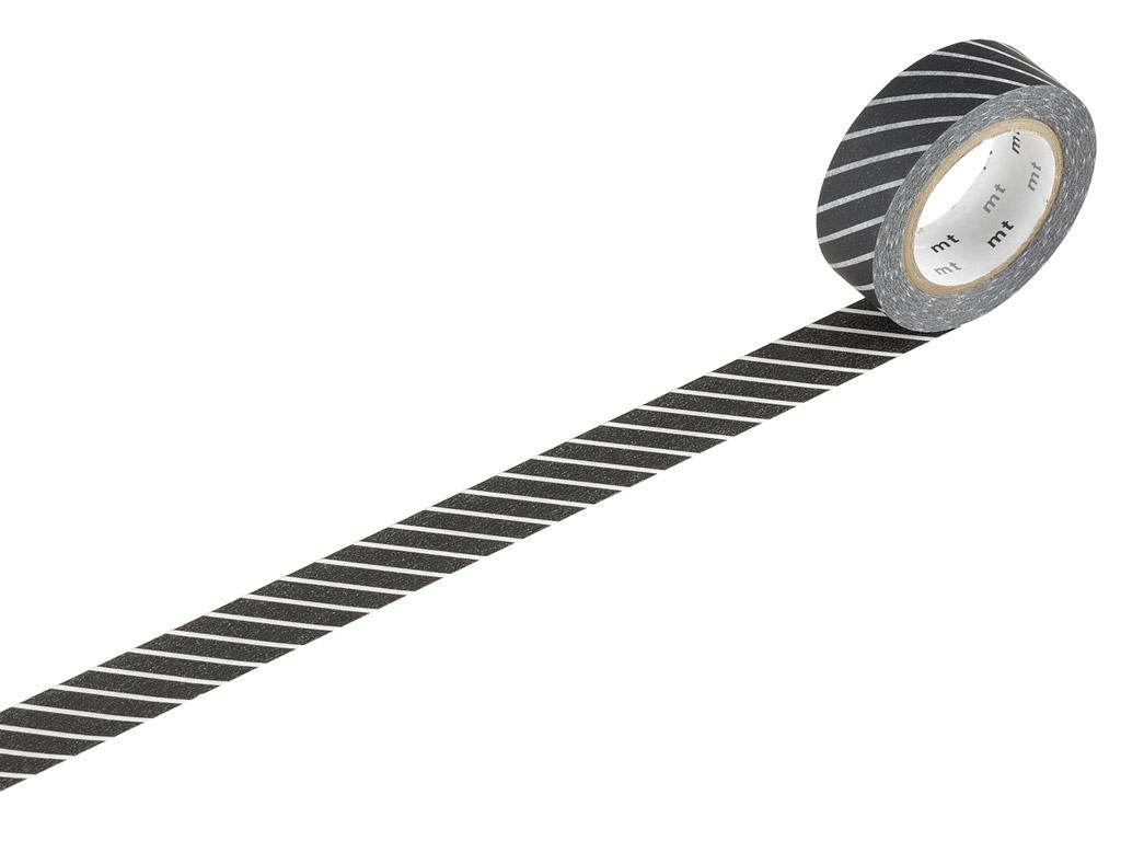 Washi līmlente mt 1P deco 15mmx10m stripe black