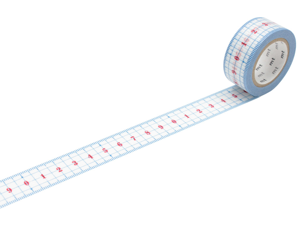 Washi līmlente mt ex 20mmx10m ruler