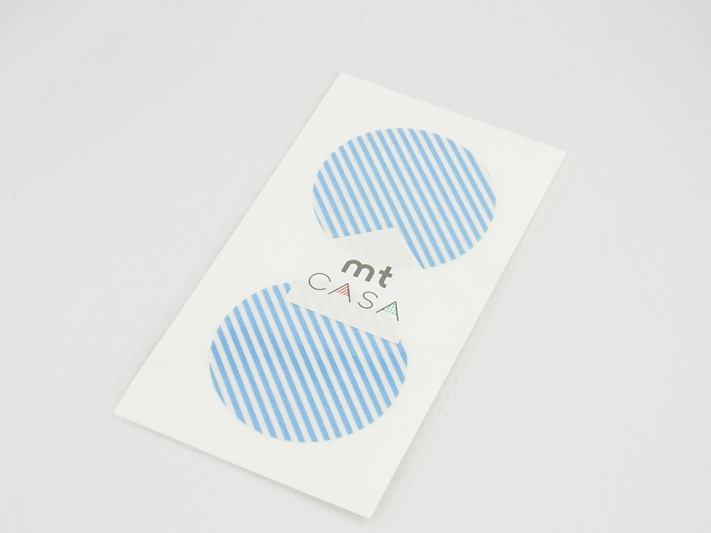 Uzlīmes mt casa seal d=50mm 10gab. stripe light blue