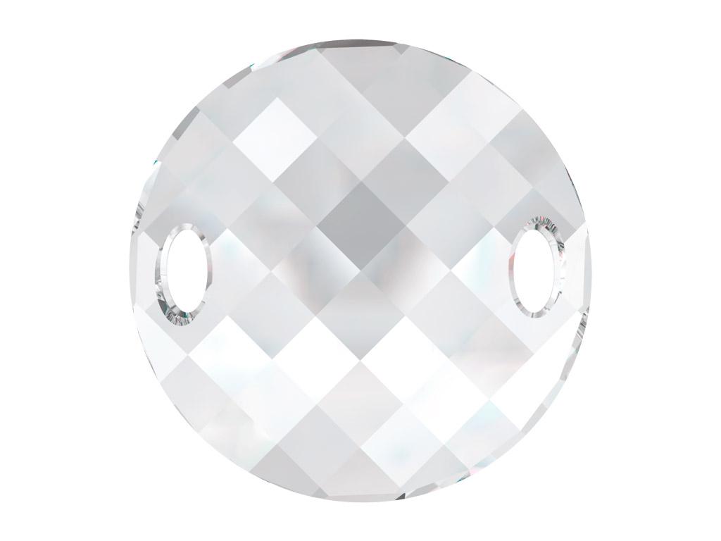 Kristāla pērlīte izšūšanai Swarovski apaļa plāksnīte 3221 28mm 001 crystal