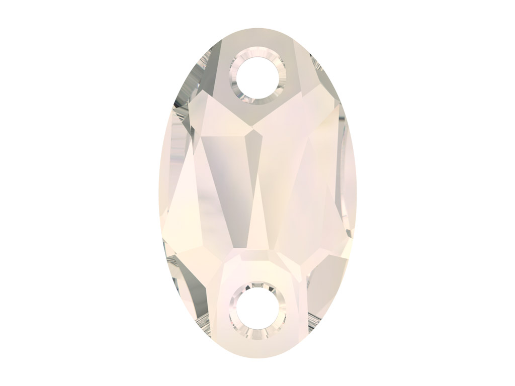 Kristāla pērlīte izšūšanai Swarovski ovāla 3231 18x11mm 002MOL crystal moonlight