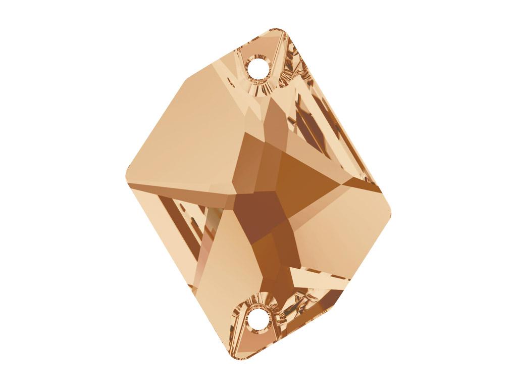 Kristāla pērlīte izšūšanai Swarovski cosmic 3265 26x21mm 001GSHA crystal golden shadow