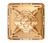 Crystal fancy stone Swarovski vision square 4481 16mm 001GSHA crystal golden shadow