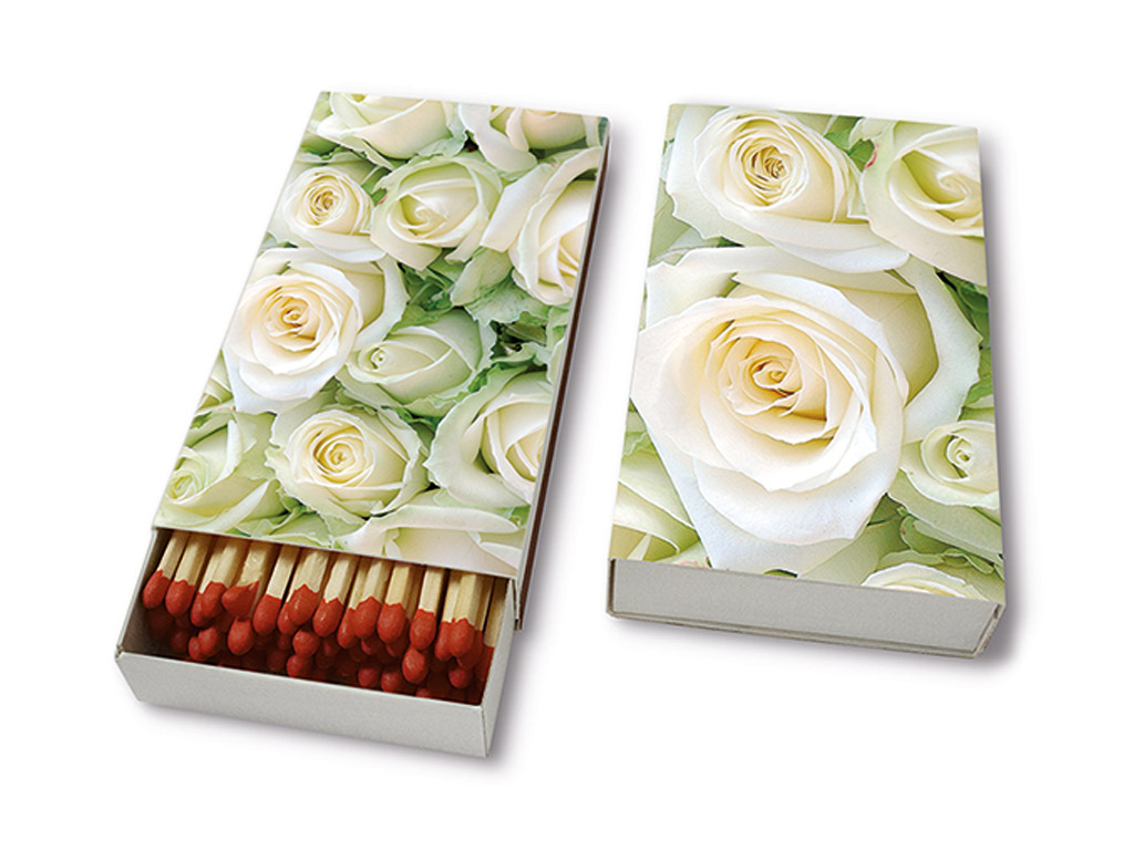 Tikud 9.5cm 45tk White Roses