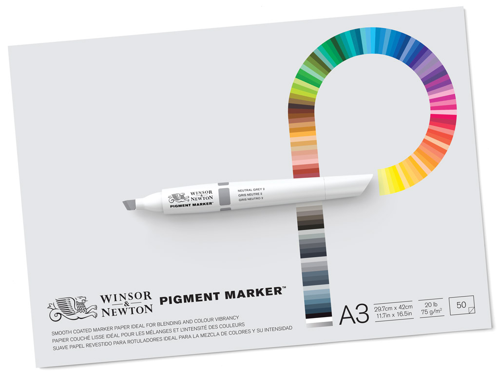 Joonistusplokk W&N Pigment Marker A3/75g 50 lehte