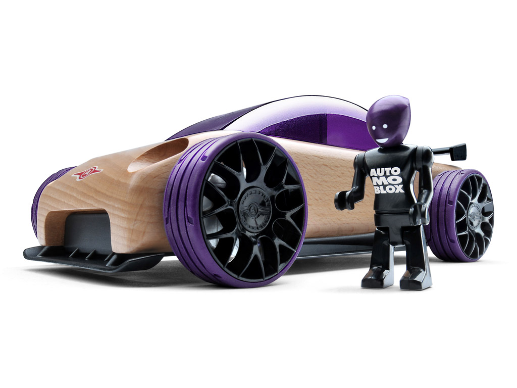 Rotaļu auto Automoblox Original S9-R sport sedan purple
