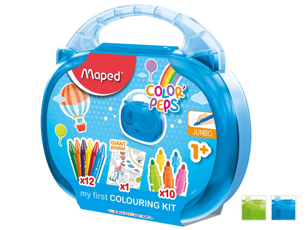 Zīmēšanas komplekts ColorPeps Early Age plastmasas kārbā asorti