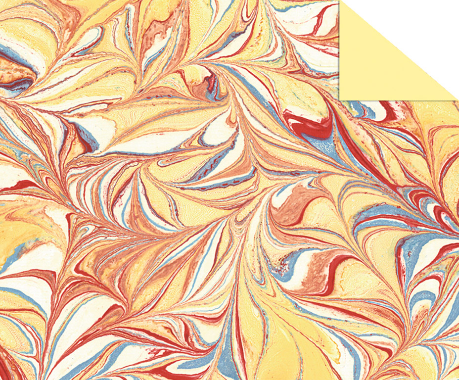 Kartong mustriga Ursus Art 49.5x68cm/220g kollane