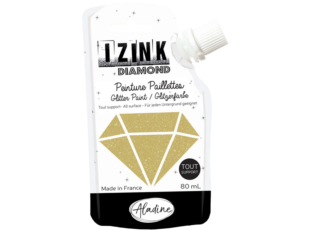Dekorkrāsa Aladine Izink Diamond 80ml gold