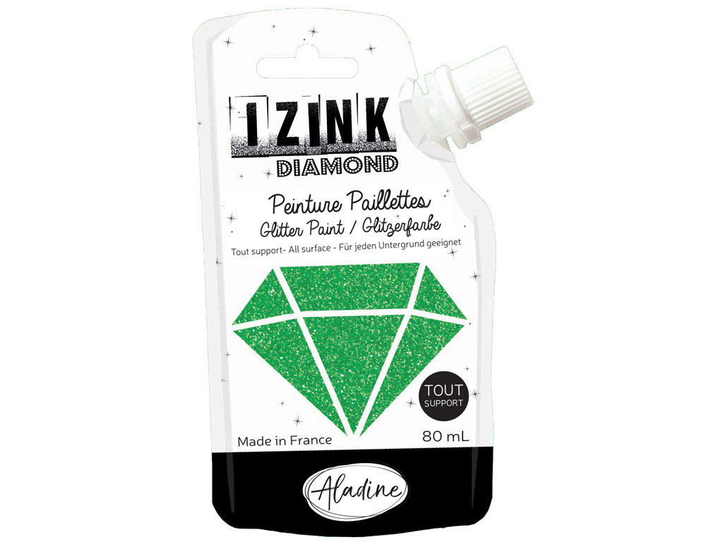 Dekorkrāsa Aladine Izink Diamond 80ml dark green
