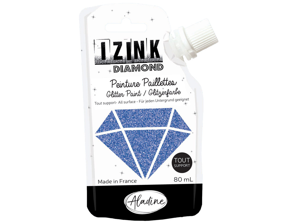 Dekorkrāsa Aladine Izink Diamond 80ml blue