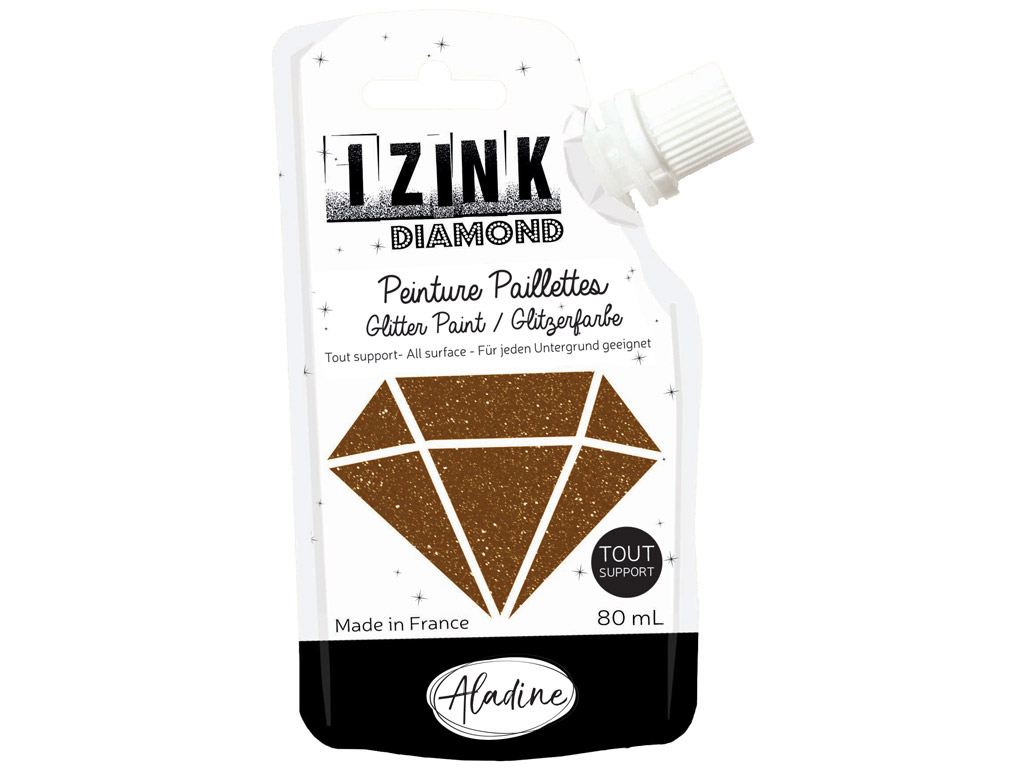 Dekorkrāsa Aladine Izink Diamond 80ml brown
