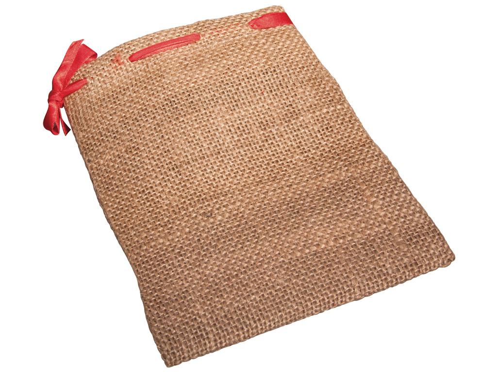 Maisu auduma maisiņš Rayher ar sarkanu aukli 14x18cm 2gab.
