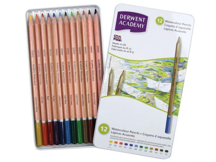 Akvarelinis pieštukas Derwent Academy metalinė dėžutė
