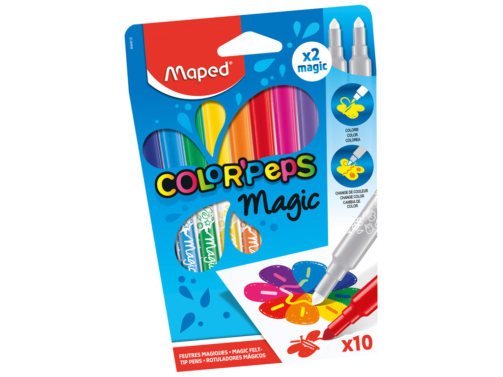 Flomasteri ColorPeps Magic 10gab.