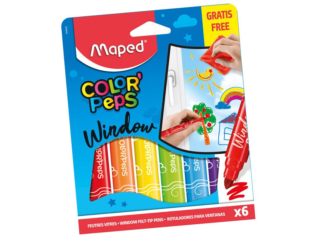 Flomasteris stiklam ColorPeps 6gab.