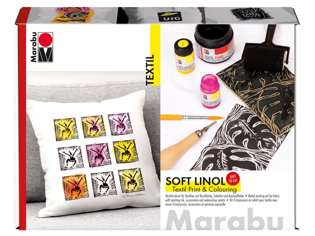 Iespieddarbu komplekts tekstilam Marabu