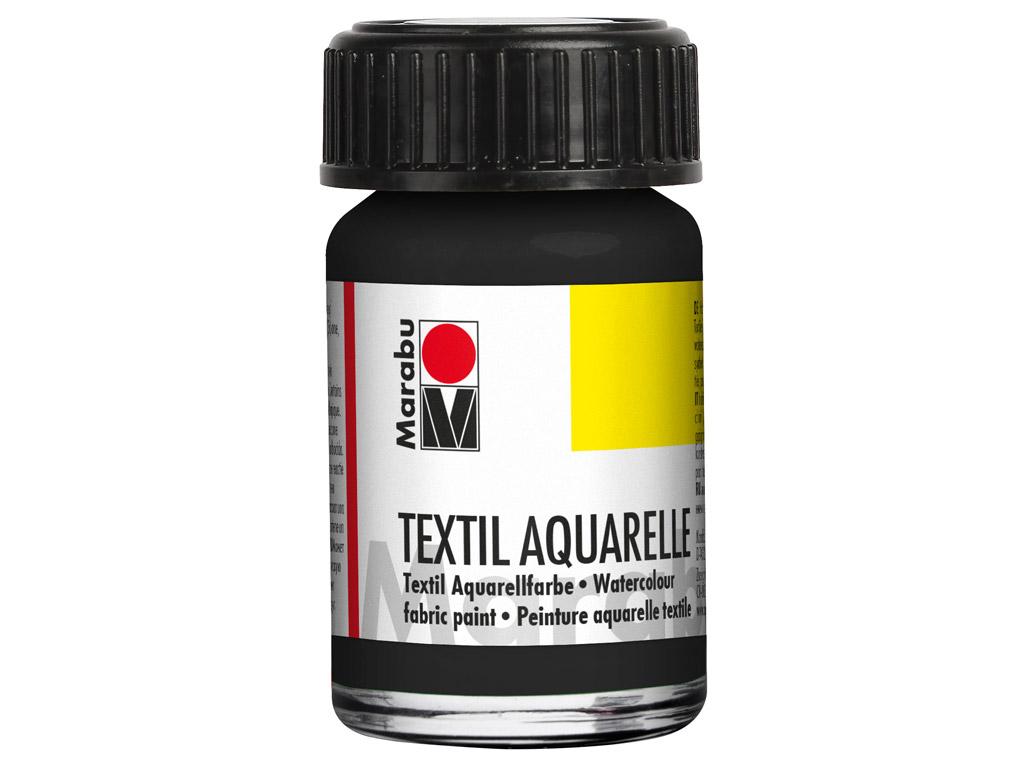 Krāsa tekstilam Aquarelle 15ml 073 black