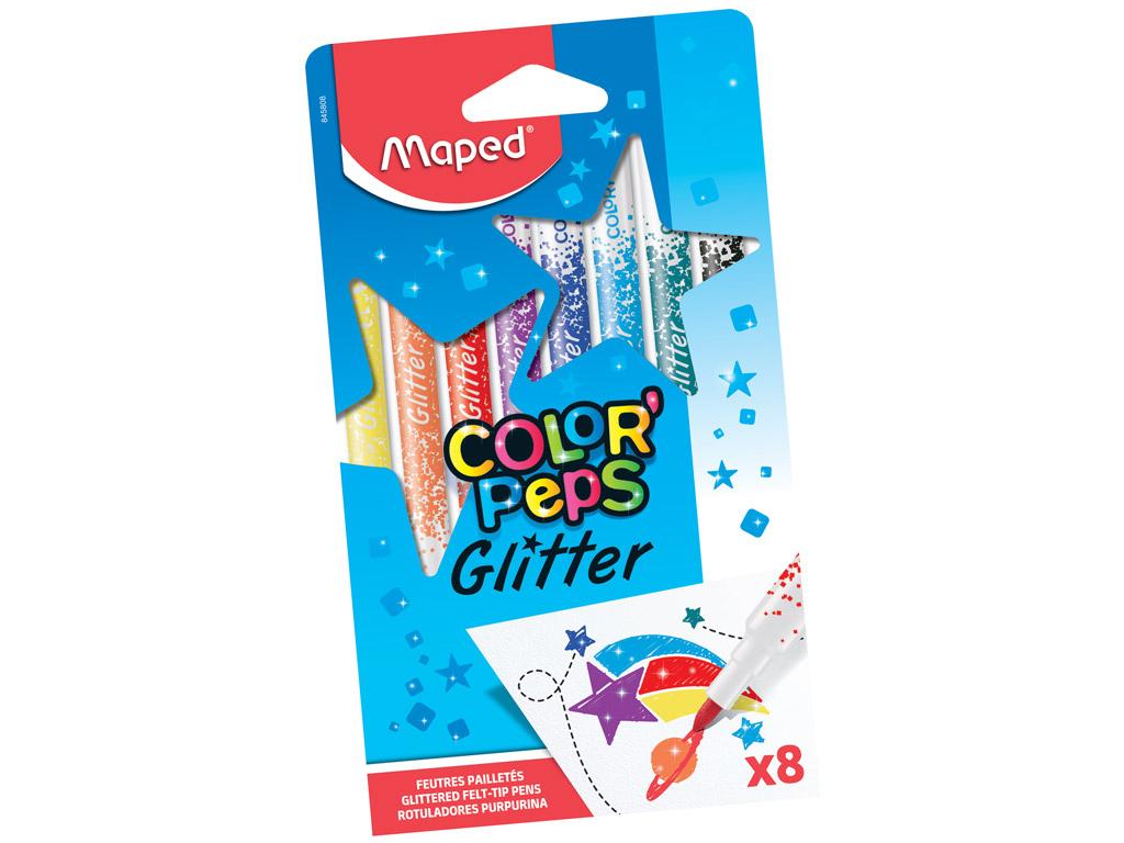Viltpliiats ColorPeps Glitter 8tk
