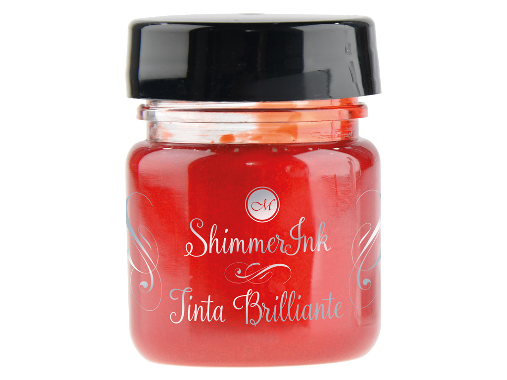 Kaligrāfijas tinte Manuscript ShimmerInk 25ml strawberry crush
