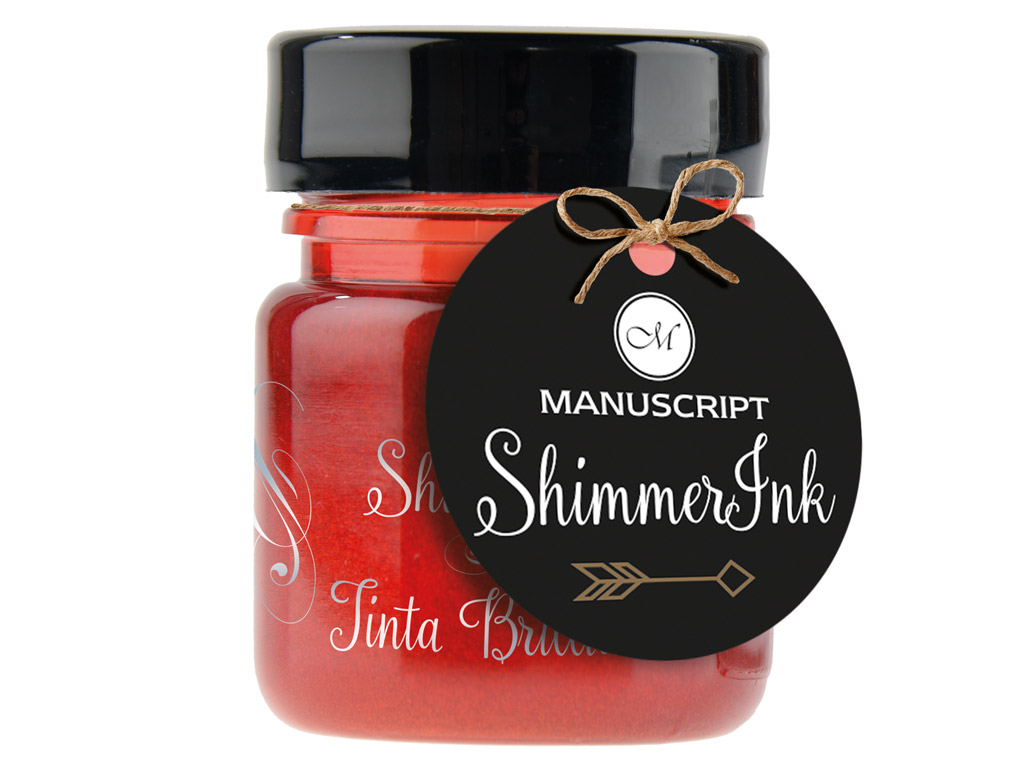 Tušas kaligrafijai Manuscript ShimmerInk 25ml rose quartz