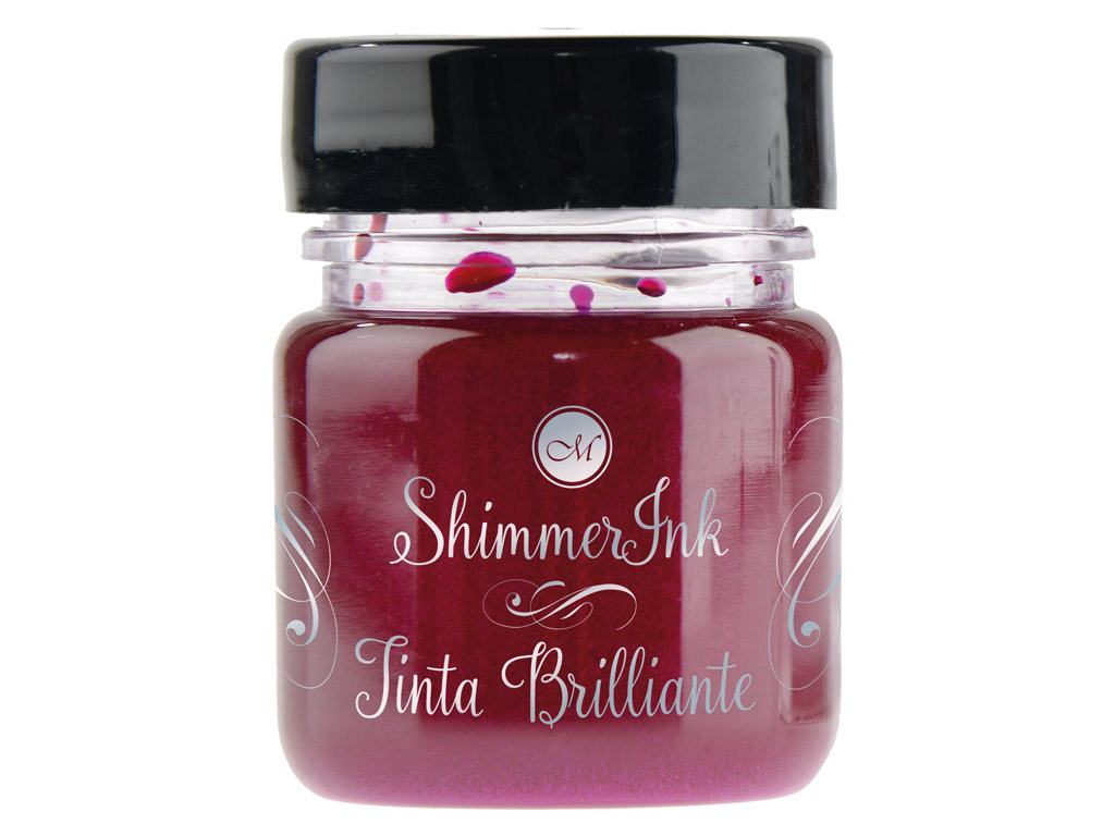 Kaligrāfijas tinte Manuscript ShimmerInk 25ml frosted berry