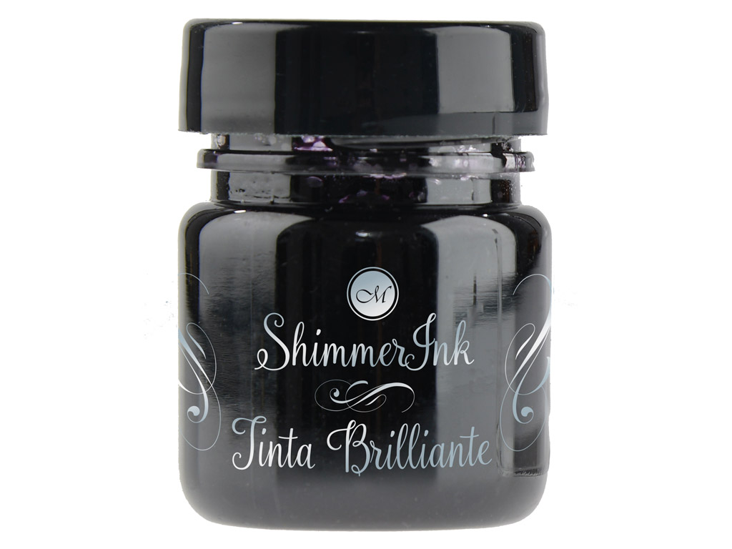 Kaligrāfijas tinte Manuscript ShimmerInk 25ml black ice