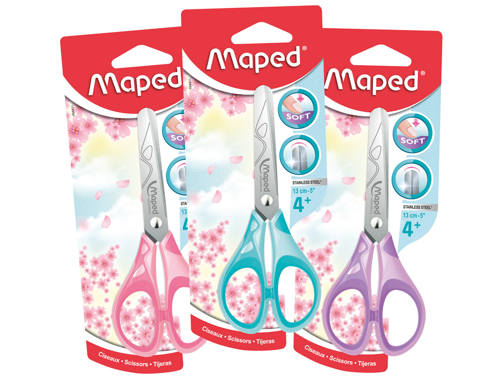 Käärid Maped Essentials Pastel Soft 13cm blistril