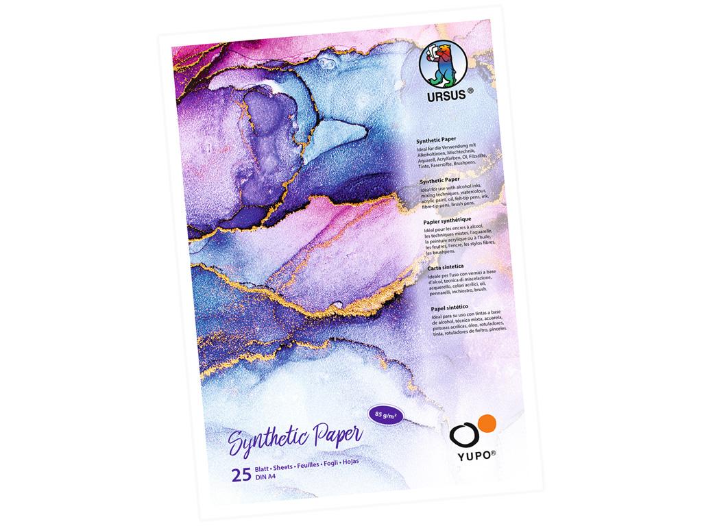 Sünteetilise paberi plokk Ursus Yupo A4/85g 25 lehte