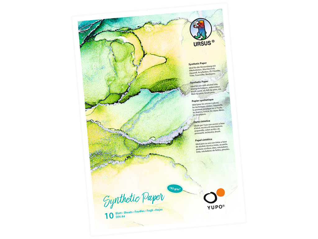 Sünteetilise paberi plokk Ursus Yupo A4/192g 10 lehte