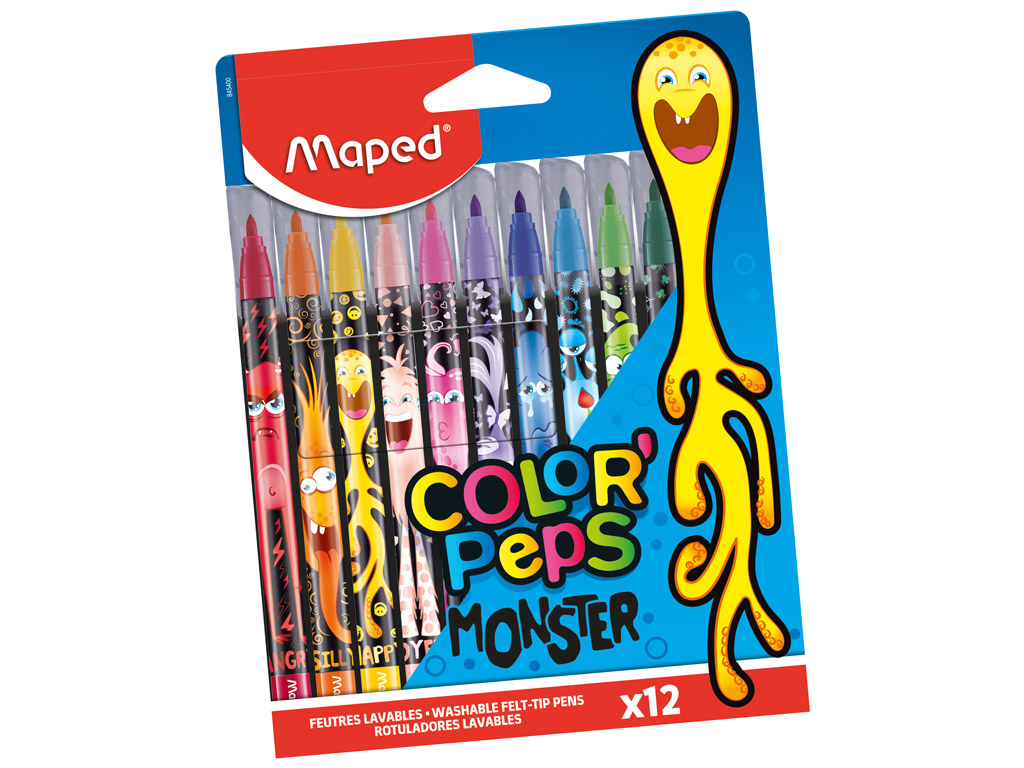Flomasteri ColorPeps Monster 12gab.