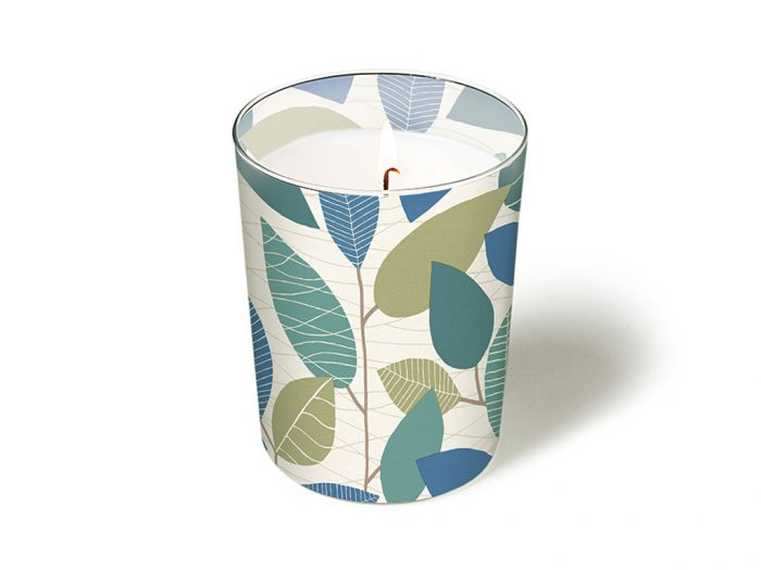 Svece stikla traukā Paper+Design apaļš d=8.5cm h=10cm