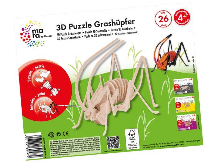 3D puzzle puidust mara by Marabu putukad - 1/3